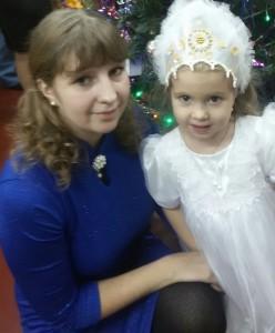 Елена Игнатьева, дочь Иришка